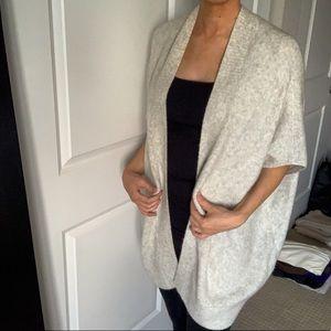 Gap gray oversized cardigan/open poncho size XS/S